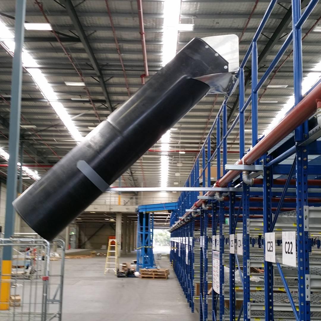 Warehouse fitout. #materialshandling #aussiechutes
